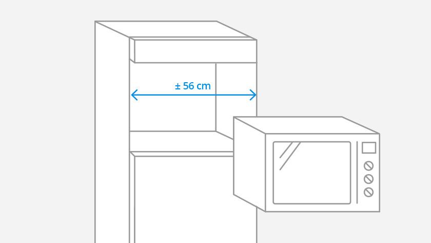 Largeur standard d'un micro-ondes encastrable