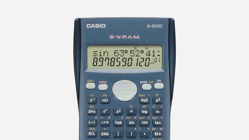 Nombre de rangées d'une calculatrice