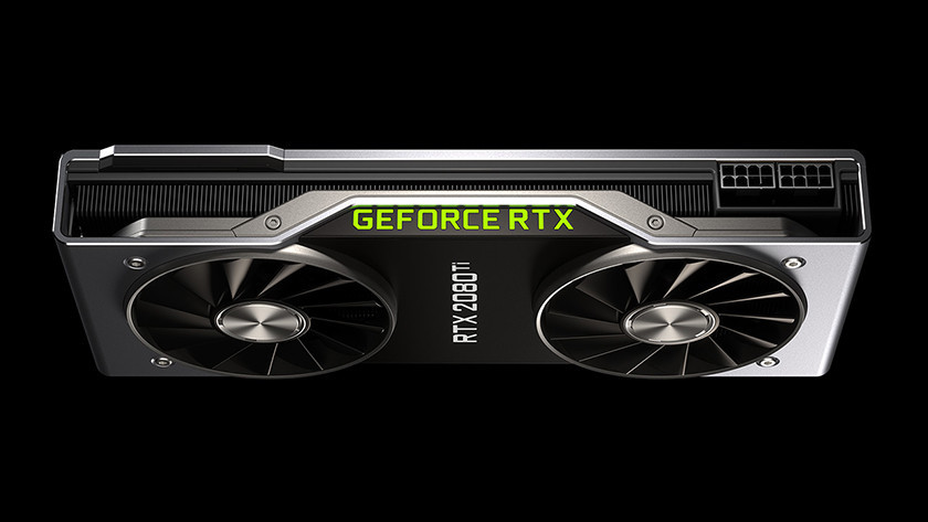An NVIDIA GeForce RTX video card.