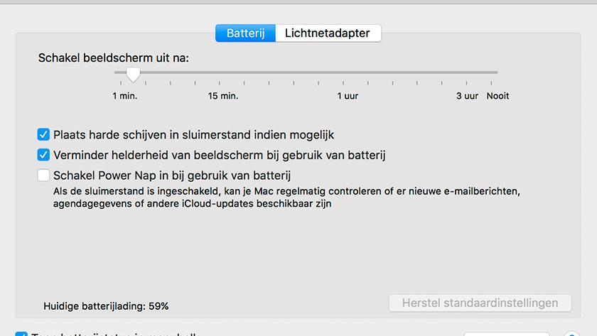Mode veille Apple MacBook