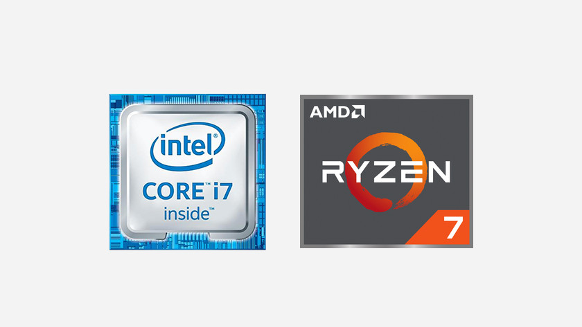Intel Processor i7 icon and AMD Ryzen 7 icon