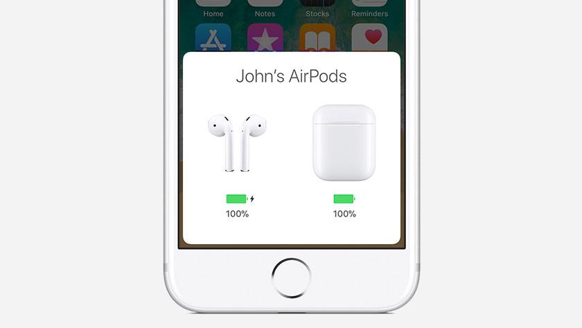 24 uur batterij AirPods