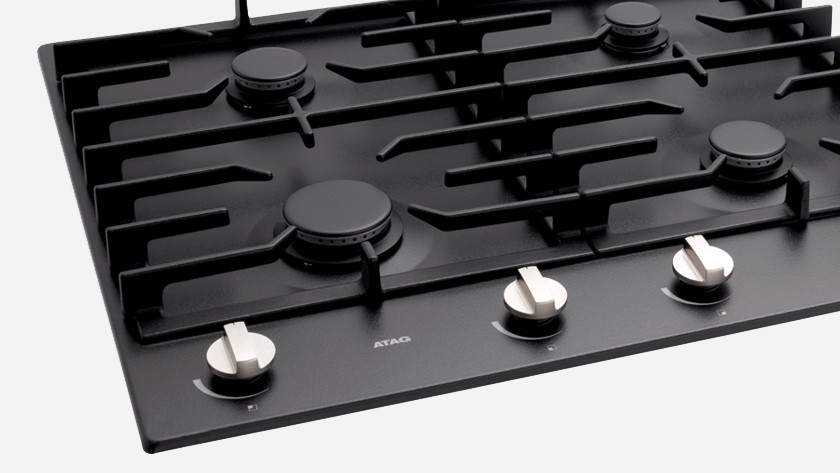 Cooktop with an open edge