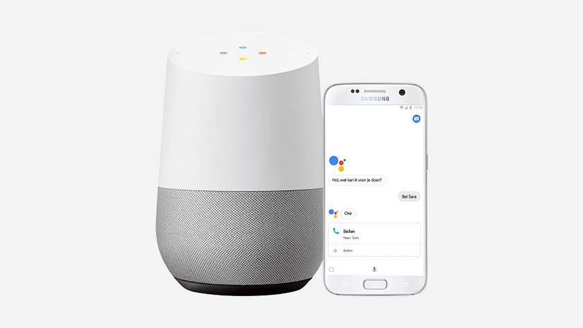 Google Assistent in gebruik
