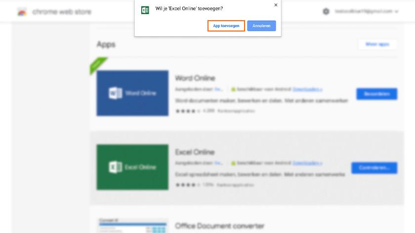 Webapplicatie toevoegen aan Chrome