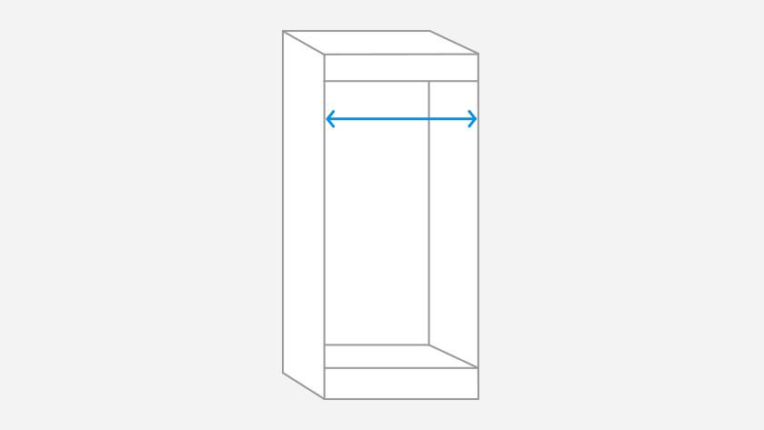Mesurer la largeur de la niche d'encastrement