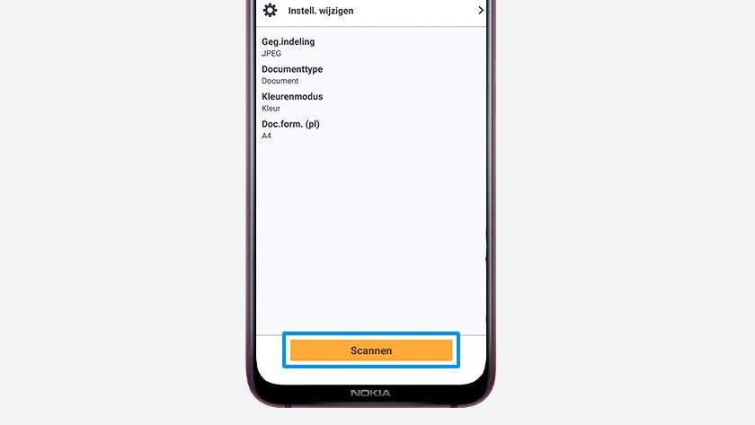 scannen met app