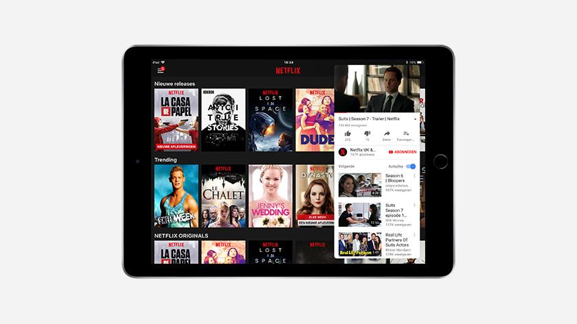 Multitâche avec fonction écran partagé sur l'iPad (2018)