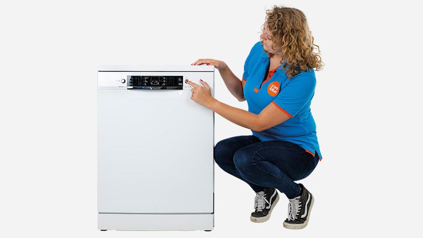 Coolbluer next to dishwasher