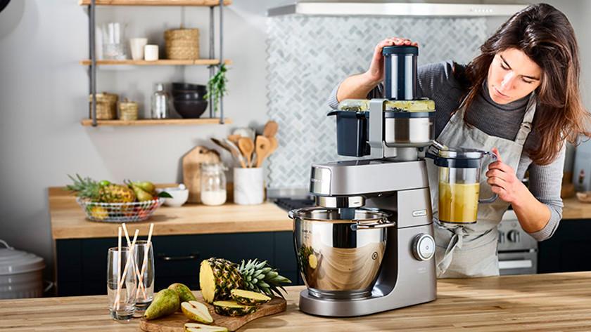 Veelzijdige keukenmixer met veel accessoires