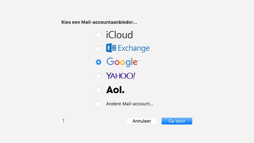 Apple Mail Gmail instellen