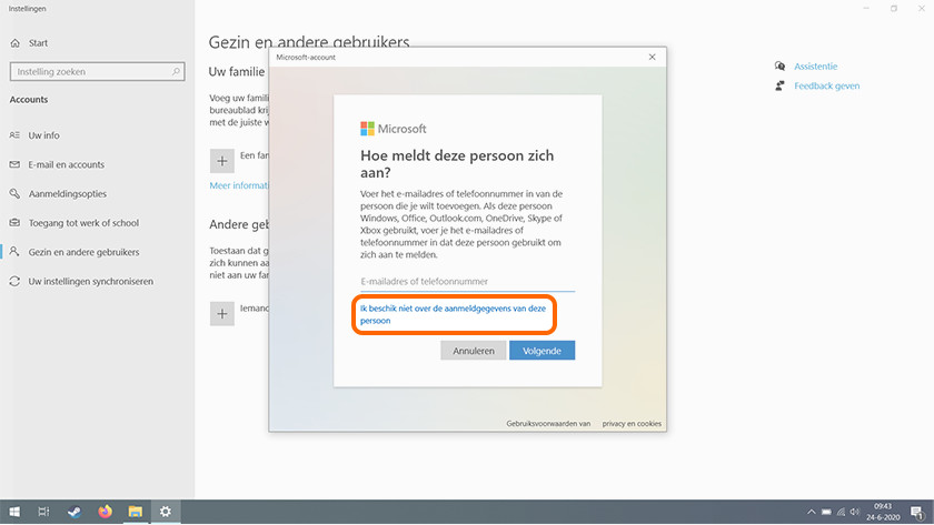 Login settings Windows 10.