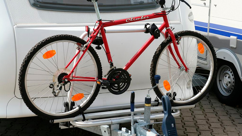 Bike carrier for on the drawbar