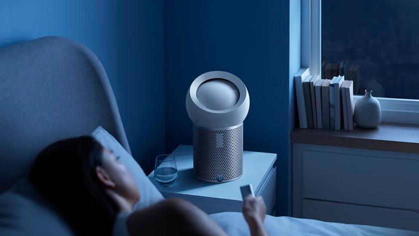 Dyson Pure Cool Me slaapkamer