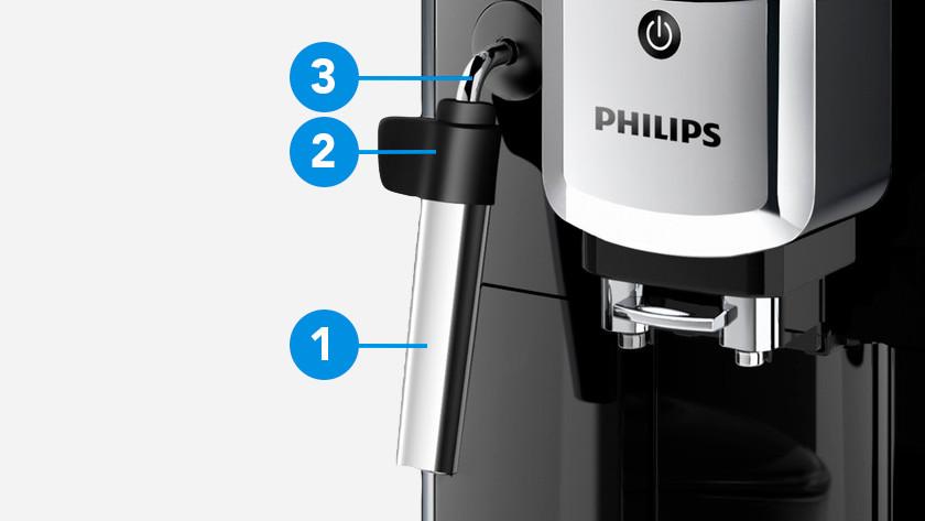 Philips stoompijpje uit elkaar halen en reinigen