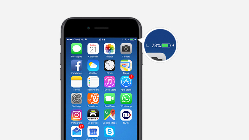 batterij indicator smartphone