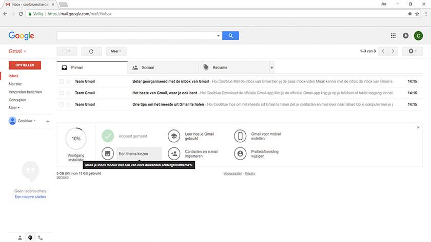 Je Google account gebruiken.