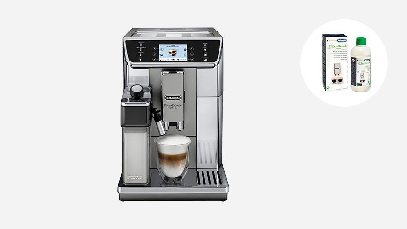 Descale Delonghi coffee machine to remove limescale
