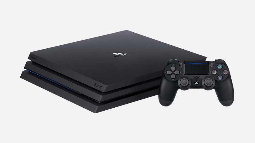 The PS4 Pro with controller