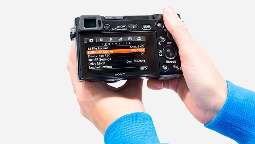 Différentes options de photographie A6000