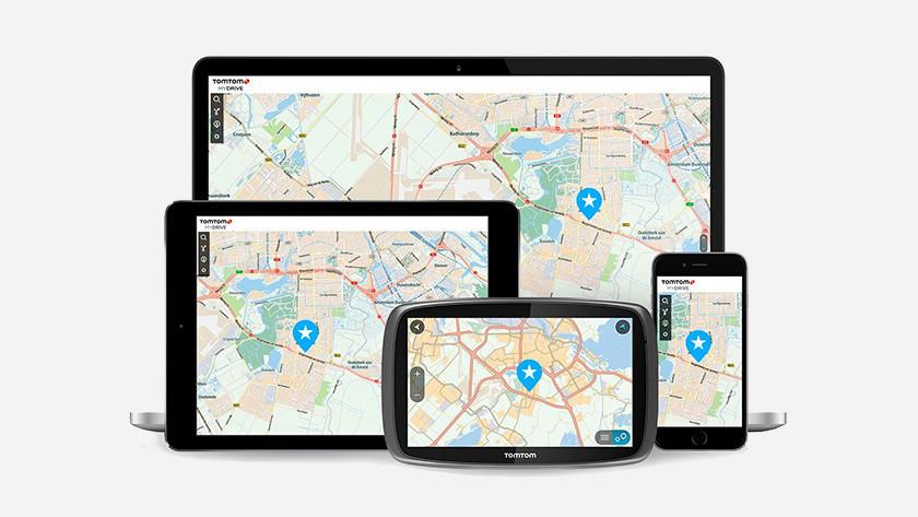 Verschillende schermen TomTom my drive