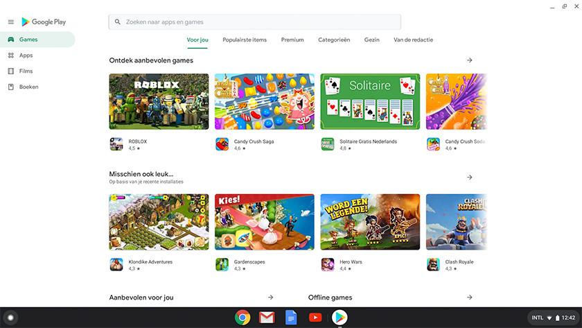 Play Store op Chromebook