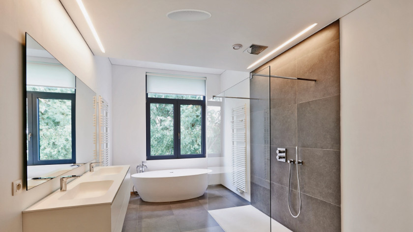 Inbouw speaker badkamer