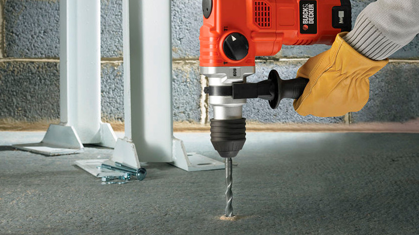 What material can you drill with an impact drill or hammer drill