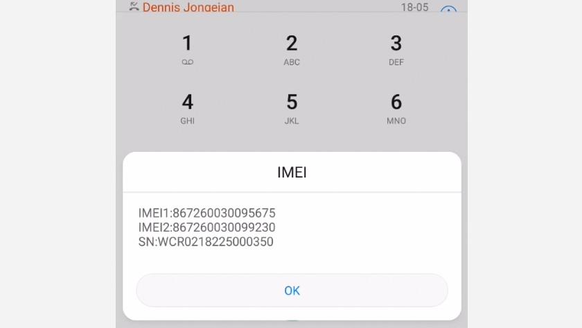IMEI telefoon