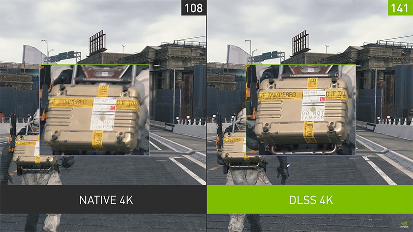 DLSS for a higher resolution and a high frame rate