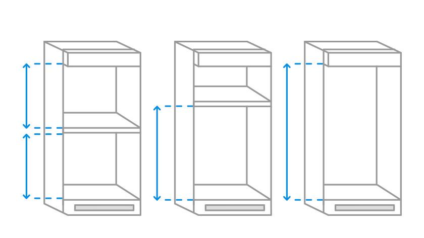 Indeling IKEA kast