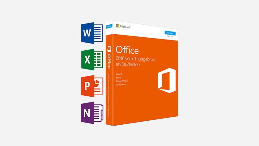 Een Microsoft Office softwaredoosje.