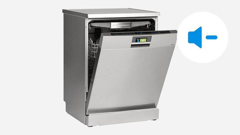 Dishwasher with sound symbol
