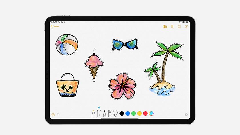 Tekenen met Apple Pencil 2e generatie