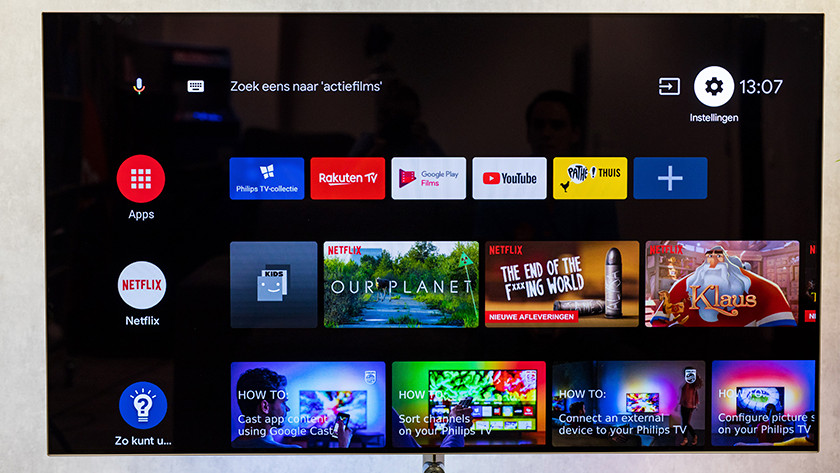 Android smart menu