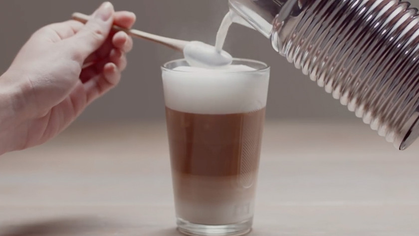 cappuccino maken met melkopschuimer