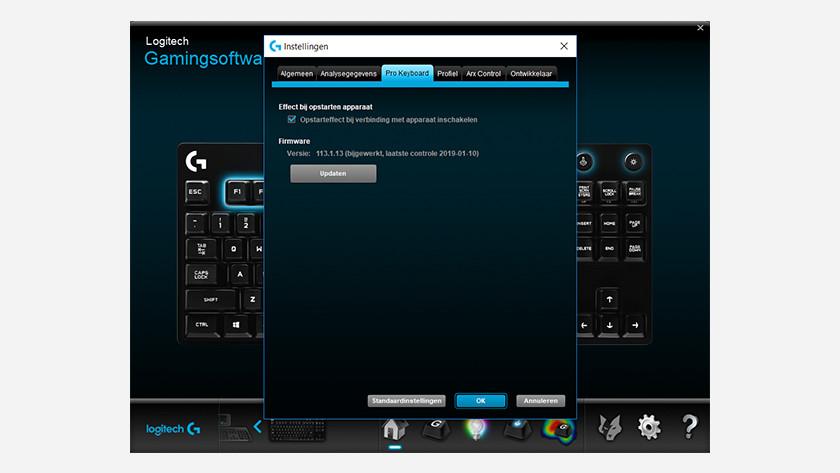 Klik op update firmware en wacht tot het voltooid is.