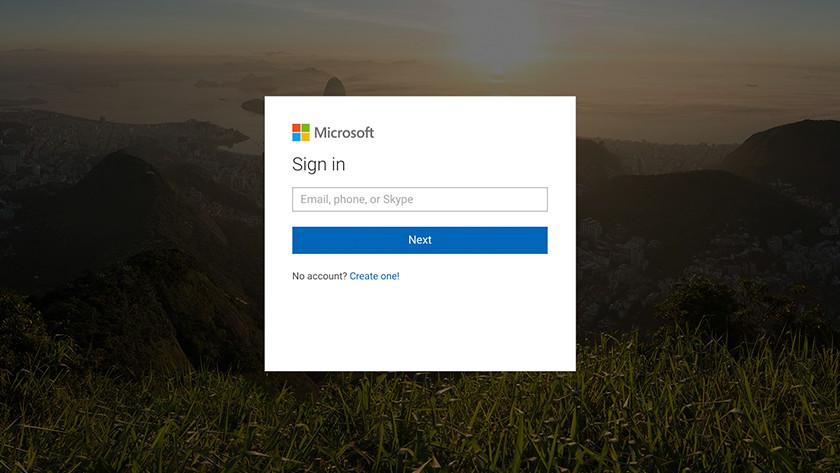 Inloggen met een Microsoft account op een Chromebook.