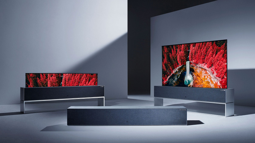 LG roll-up TV announced