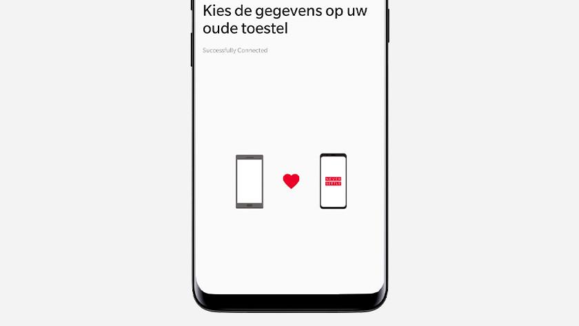 OnePlus Switch gegevens kiezen