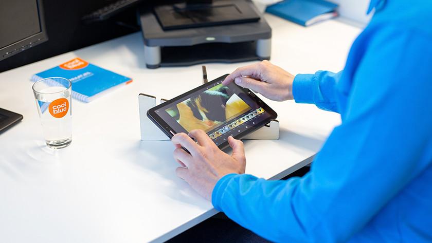 Tablet photo editing