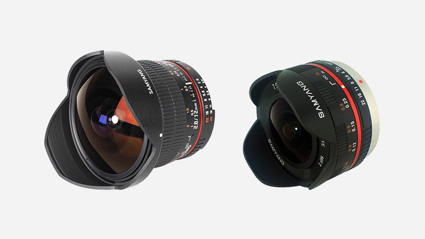 Types of fisheye lenses