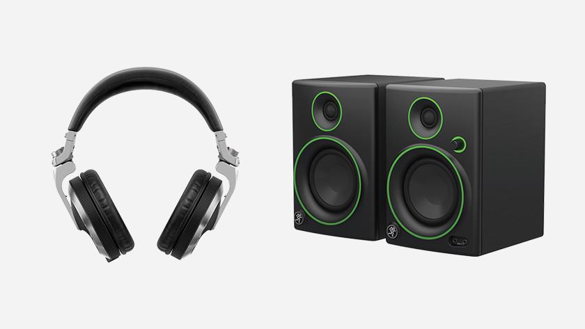 DJ hoofdtelefoon kind en DJ speakers kind