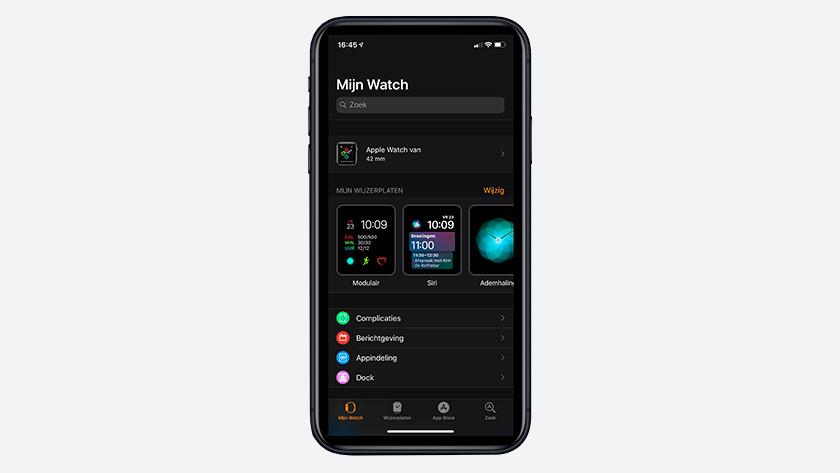 Apple Watch app op je iPhone