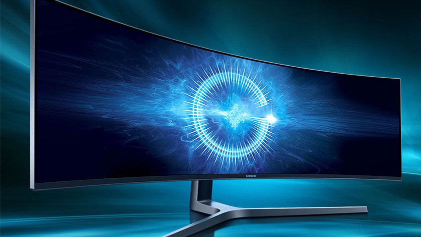 Curved ultrawide monitor.