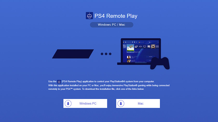Download the Remote Play client