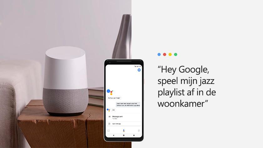 Muziek afspelen met Google Assistent