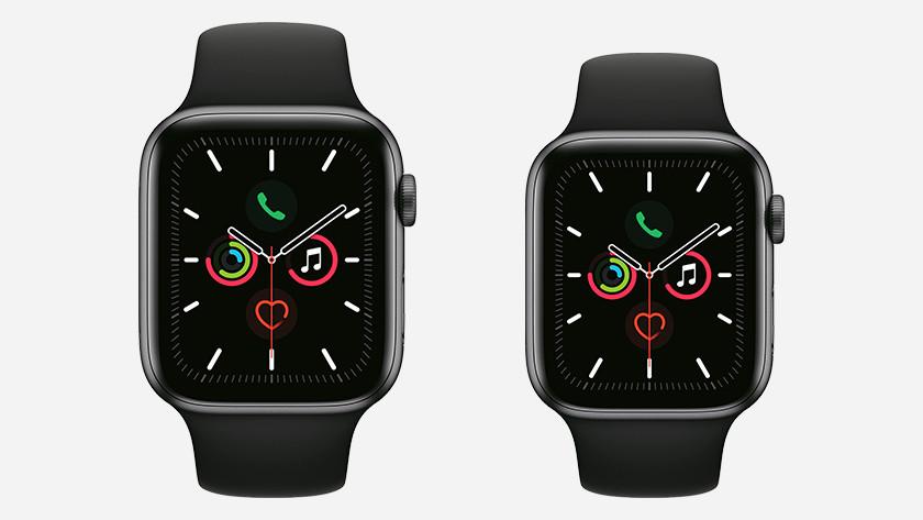 Apple Watch Series 4 en Series 5 formaat