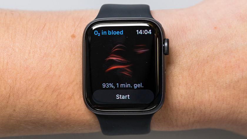 Saturatiemeter Apple Watch