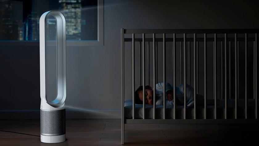 Dyson luchtreiniger slaapkamer